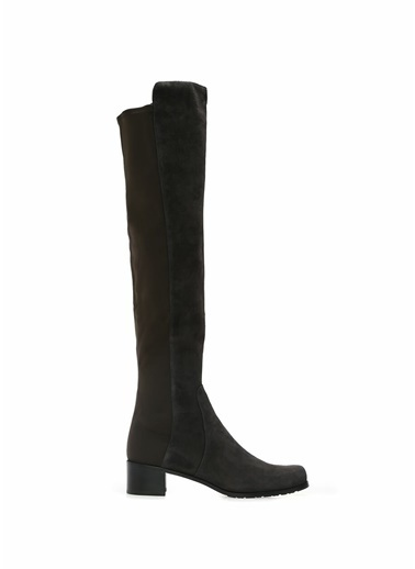 Stuart Weitzman Çorap Formlu Süet Çizme Gri